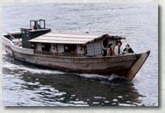 隅田川唯一の木造屋形舟 第二小松丸